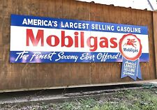Antique Vintage Old Style Mobilgas Socony Sign HUGE! FREE SHIPPING