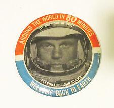 1962 Astronaut John Glenn Welcome Back to Earth 3 12 in Pinback