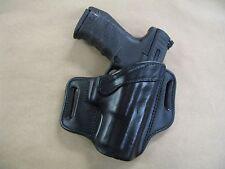 CZ P07 P-07 9mm / 40 OWB Leather 2 Slot Molded Pancake Belt Holster CCW BLACK RH