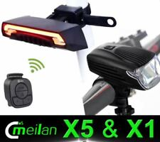 Meilan X1 Headlight & X5 Taillight Smart Lights Night Ride Bundle - Black
