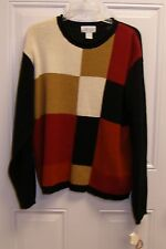 Just Clothes Color Block Sweater XL NWT