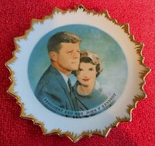 ORIGINAL PRESIDENT AND MRS. JOHN F. KENNEDY HOME DECOR COLLECTIBLE PLATE
