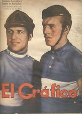 El Grafico Magazine Saavedra & Kuysscher Cyclists On Cover 1939