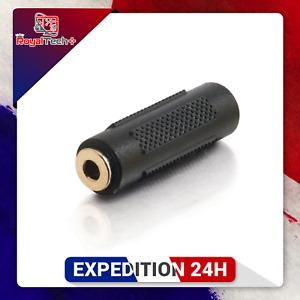 Coupleur adaptateur Audio 3.5 mm femelle vers 3.5mm femelle Jack stéréo