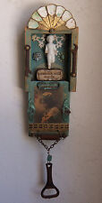 Frozen Charlotte SHADOW BOX Wall Decor #1279 Assemblage Art Vntg Findings -Sari