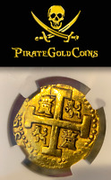 PERU 1726 8 ESCUDOS NGC PIRATE GOLD COINS SHIPRWRECK TREASURE PENDANT JEWELRY