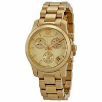 Michael Kors MK5384 Mini Runway Golden Wrist Watch for Women