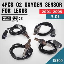 4Pcs O2 Oxygen Sensors For Lexus IS300 Up/Downstream 234-4626 4-Door Set
