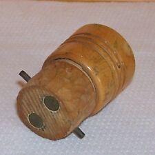 Ancienne Douille voleuse bois laiton- Décoration Collection Loft - Port gratuit.