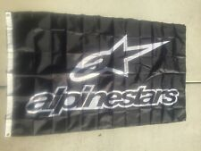 Alpinestars 3x5 Ft Flag Banner Motorcycle Racing Dirtbike Black Moto GP USA