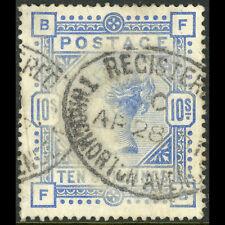 GREAT BRITAIN 1883-84 10s Ultramarine. SG 183. Average Used. (AW511)