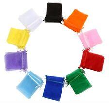 "4""x5"" Sheer Drawstring Drawstring Pouch Burlap Wedding Favor Gift Bags 100Pcs"