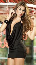 1Pc Black Fashion  Women Sexy Deep V-neck Bandage Dress Bodycon Open Back Club
