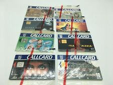 X8 IRELAND CALLCARD PHONECARDS EIRCOM SEALED FOOTBALL TIA MARIA DIANA ROSS TINA