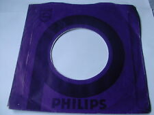 "PHILIPS 7"" RECORD SLEEVE ORIGINAL 1970's TWO TONE PURPLE"