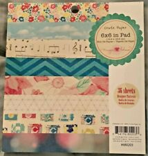 """Crate Paper Maggie Holmes Paper Pad 6x6 6"""" Floral Vintage Camera 36 Sheets NEW"""