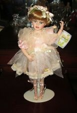 "Vtg #1 Ballerina Doll Blond Hair Pink Lace Dress Pearls 16"" Cathay Pretty & Rare"