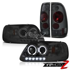F150 XL 97-03 Smoked Headlight LED Halo Back Rear Tail Lights ''Factory Style''