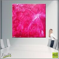 Modern Pink Abstract Art Painting Textured Canvas 120cm x 120cm Franko Australia