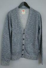Uomo Levi's Strauss & Co Pulsante Anteriore Cardigan Blu Misto Cotone M XIM467