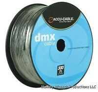 300 FT 3-Pin DMX Cable Accu-Cable spool AC3CDMX300