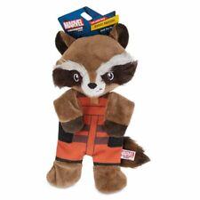 """Marvel Comics ROCKET RACCOON CRINKLE FLATTIE SQUEAKER DOG TOY - 9"""" pet chew toy"""