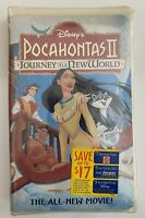 Pocahontas 2 Journey To A New World VHS Tape NIB Clamshell - New & SEALED