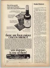 Duff Gordon No. 28 Sherry - San Antonio Tourism 1969 Print Ad