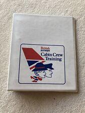 British Airways Cabin Crew Training Folder