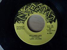 "LORI JACOBS - Telling Lies -  7"" VINYL USA Neostat 1982 - RARE pressing"