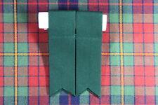 Nuevo Kilt Montaña Escocés Poliéster Hose / Calcetines Bandas con Ligas en Verde