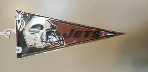 NEW YORK JETS PEBBLE GRAIN FEEL NFL FELT PENNANT WITH HOLDER 12222019