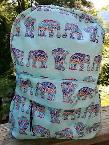 Tribal Elephant Bookbag • Teal