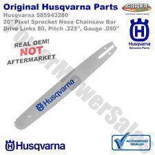 "Husqvarna 20"" Pixel Sprocket Nose Chainsaw Bar / DL 80, Pitch .325"" / 585943280"