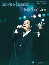 Songs of Juan Gabriel Latin Piano Sheet Music Guitar Chords Lyrics Book