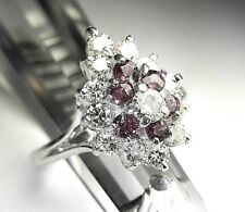 14K White Gold and Genuine Natural Ruby & Natural Diamond Ring  NWT Size 4.75