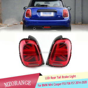 Pair LED Rear Tail Brake Light Lamp For BMW Mini Cooper F55 F56 F57 2014 15-2020