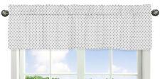 Polka Dot Window Valance Curtain For Sweet Jojo Watercolor Floral Girls Bedding