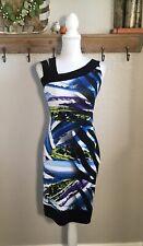 Joseph Ribkoff Sheath Printed Dress Size 4 Small Sleeveless Short