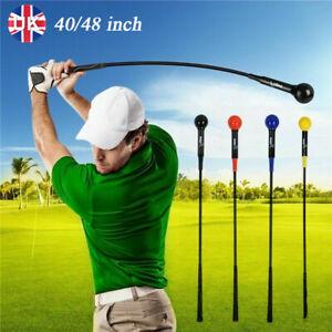 "40/48"" Golf Swing Aid Trainer Stick Practice Power Strength Tempo Flex Training"