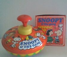 Vintage Peanuts Snoopy & The Gang Ohio Art Spinning Top Original Box Near Mint