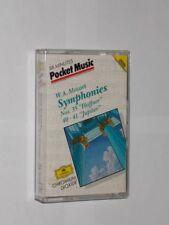 Mozart Symphonies 35, 40-41 Leonard Bernstein/Vienna PO. Cassette. Play Tested.