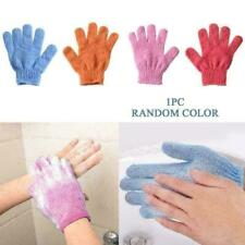 2Pcs Shower Bath Gloves Exfoliating Wash Skin Spa Massage Scrub New Body P3V4