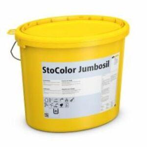 StoColor Jumbosil 3 Eimer Weiß-15Liter-Fassadenfarbe,Siliconharzfarbe,Filmschutz