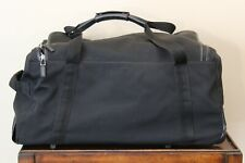 "Gucci Black Nylon w/ Leather Trim Rolling Wheeled Duffle Bag Luggage Travel 24"""