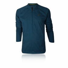 Abbiglimento sportivo da uomo blu da corsa con manica lunga