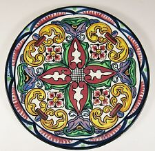 "Vintage PASCUAL ZORRILLA Spanish Majolica Handpainted 10"" Pottery Plate #2"