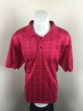 Jos. A. Bank Leadbetter Golf Polo Shirt Red Checked Dress Shirt Size L