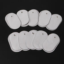 10X Silicone Gel Tens Units Electrode Replacement Pads For Massagers Practical