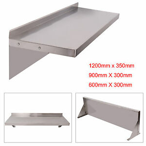 600/900/1200mm Stainless Steel Shelves Commercial Kitchen Clean Room Wall Shelf